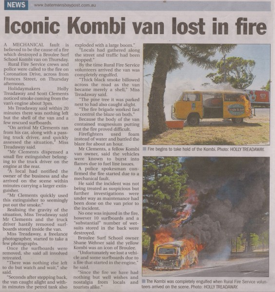 Batemans bay post article