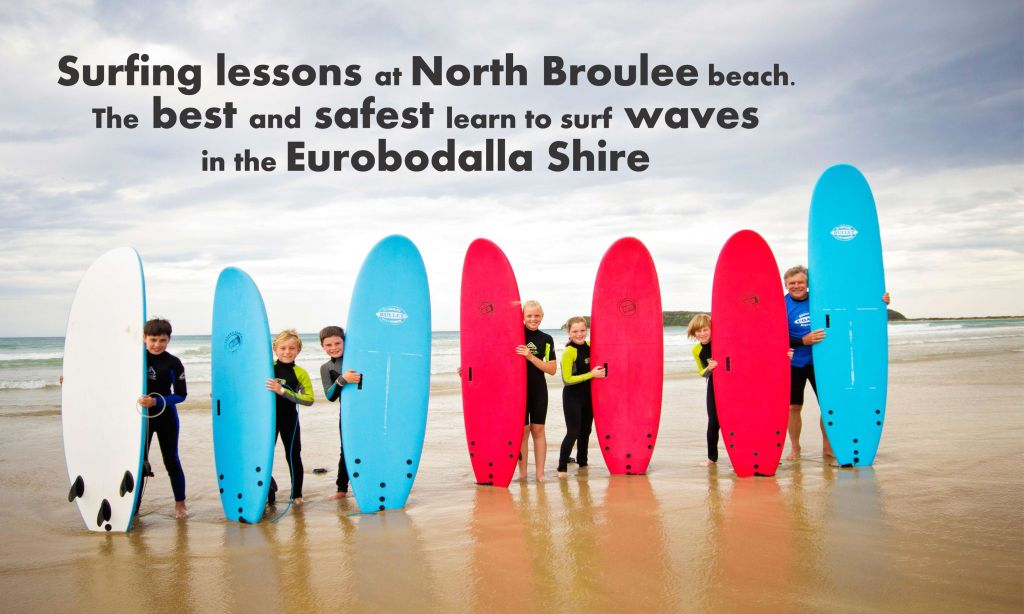 surfing lessons at broulee