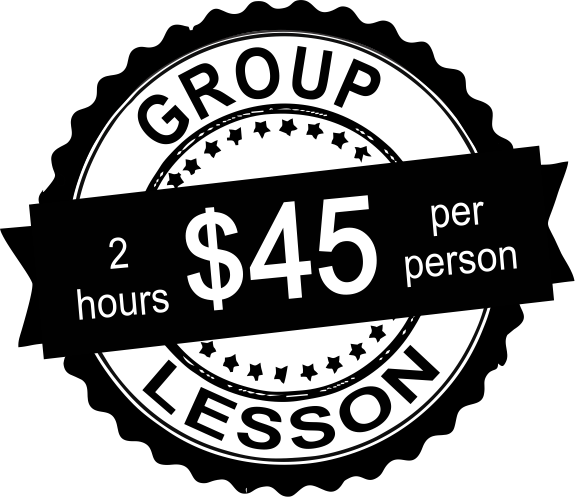 group lesson price tag