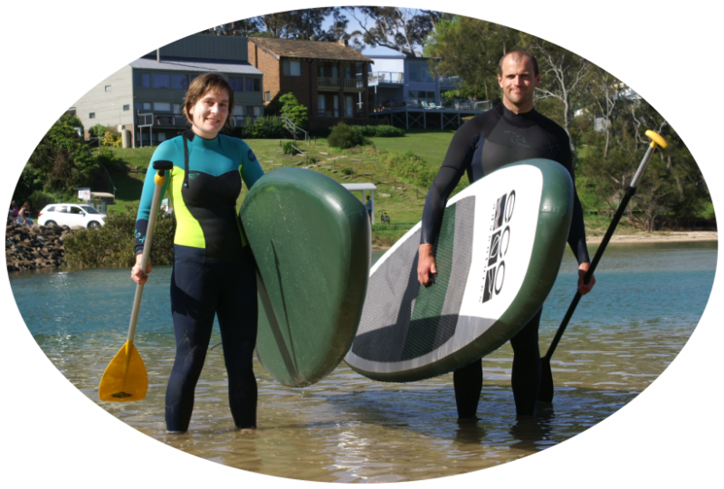 stand up paddle board hire in broulee