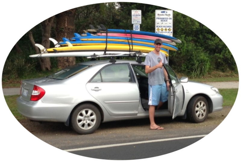 board hire in broulee - surfing equipment hire