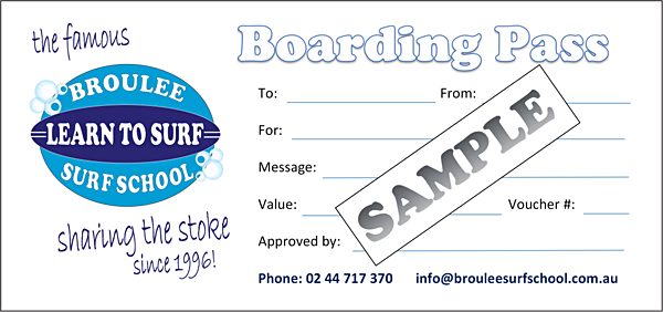 Broulee Surf School Gift Vouchers for Surfing Lessons