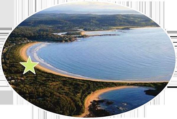 broulee beach near batemans bay nsw