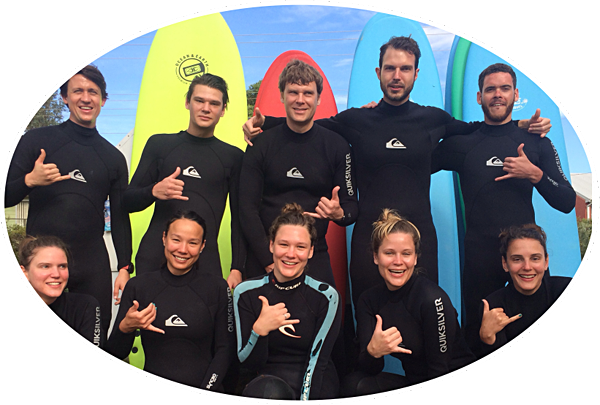 learn to surf in broulee