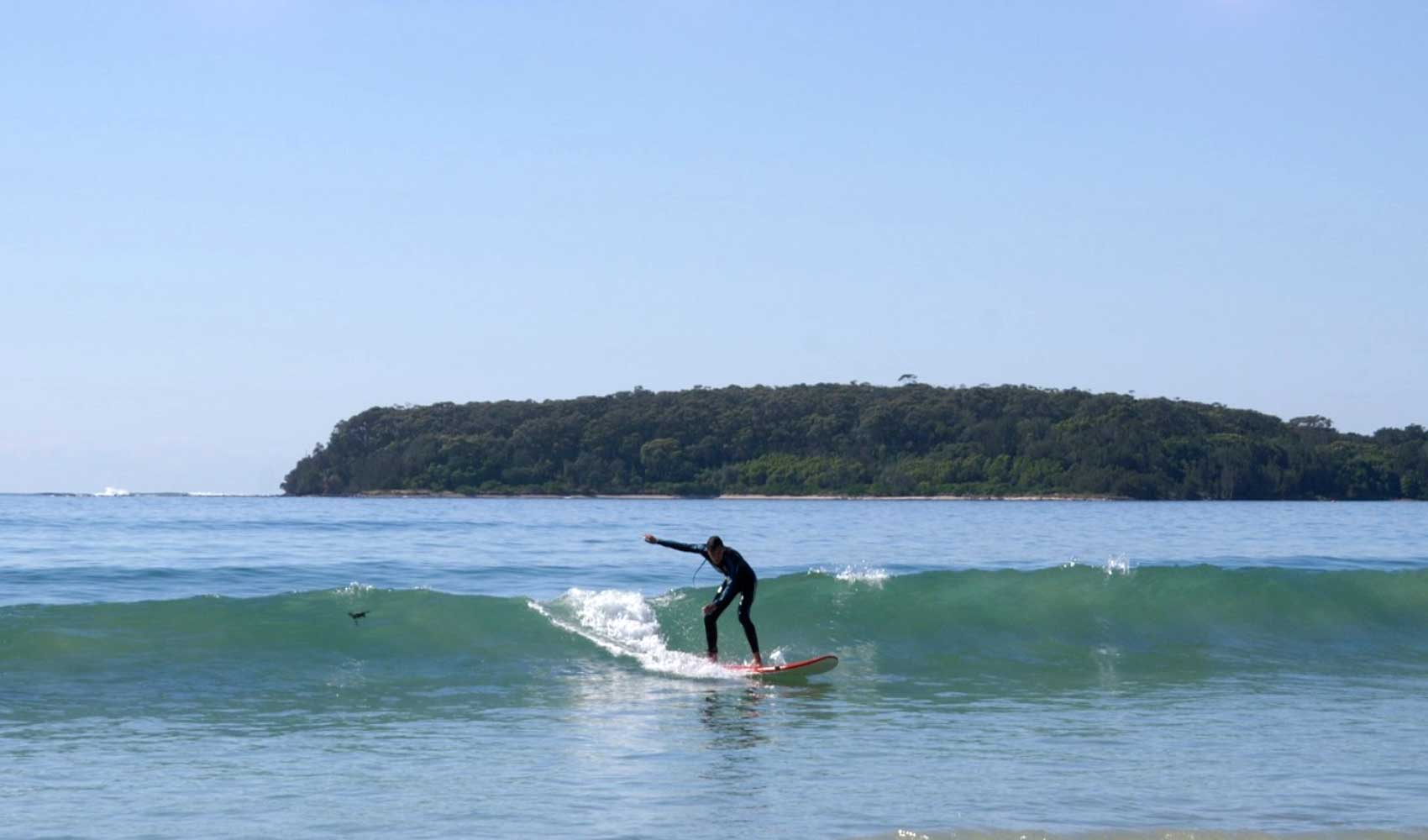 Surfing at Broulee NSW