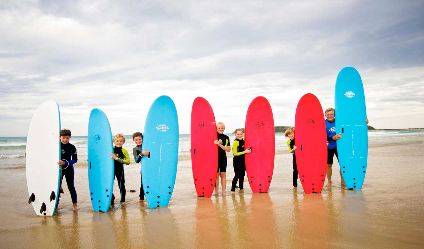 Surfing Lessons at Broulee, South Coast NSW